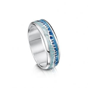 Blue Enamel Ring Skyran